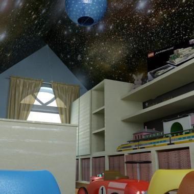 Interior-pokoj dziecinny dla chlopca