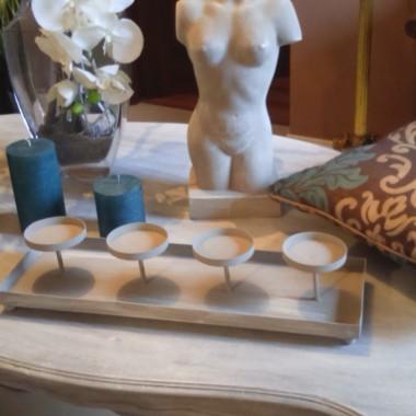 świeczniki do decoracji na stół