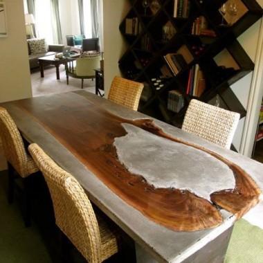 stol drewno stal loft pepitowood drewno skandynawskie