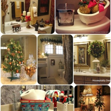 łazienki w świątecznej oprawie:)
