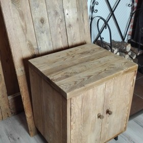 Szafki stare drewno do łazienki