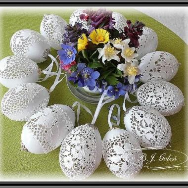 Ażurowe jajka kurze
