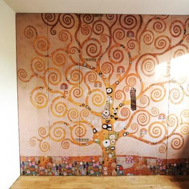 Szafa z grafiką Gustav Klimt