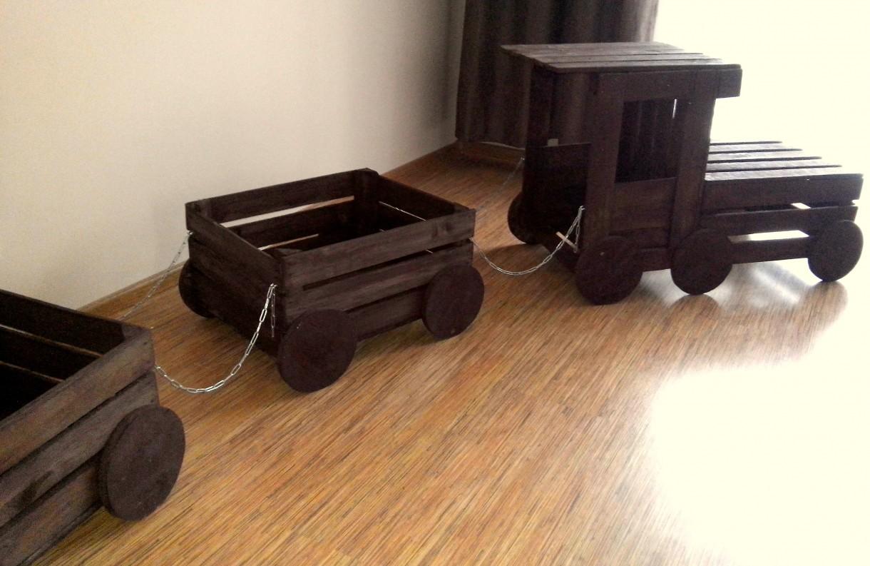 Zdjęcie 34 W Aranżacji Pociąg Skrzynki Drewniane Donica