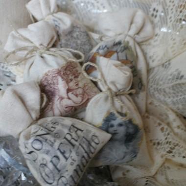 Jeszcze parę bombek, zawieszki oraz woreczki na prezenty :)