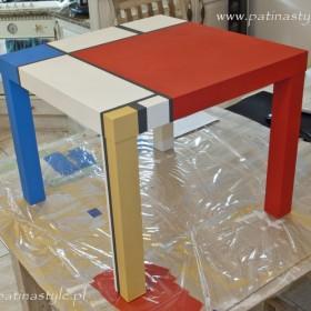 DIY - Stolik IKEA  Maluję Farbami Kredowymi