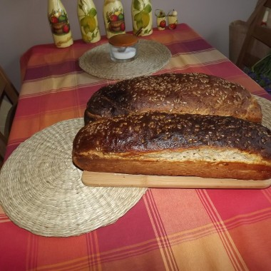 Nowe ubranka dla okien i pyszny chlebek od Mamy:-)