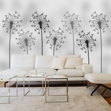 Grafika z dmuchawcami jako fototapeta na ścianę, pięknie ozdobi Twój salon.