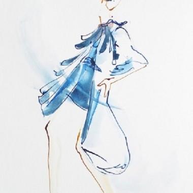 """Obraz na płótnie """"Blue couture"""""""