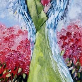 Różane anioły - obrazy