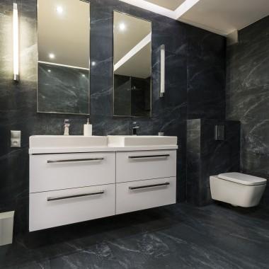 czarne łazienki