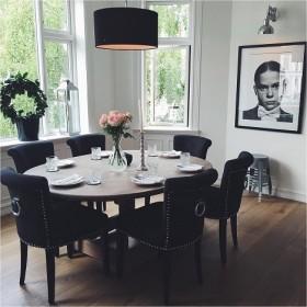Krzesło tapicerowane z kołatką nowoczesne