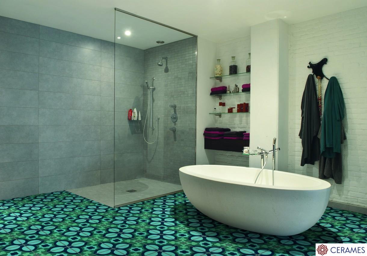 Eksplozja kolorów na podłodze w Twojej łazience