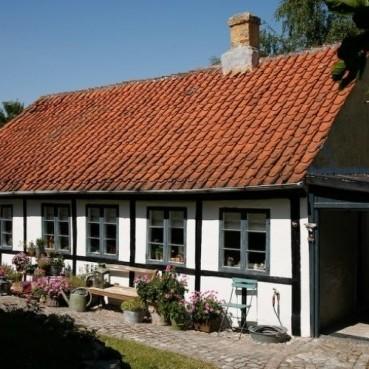 Tradycyjny domek w Danii.