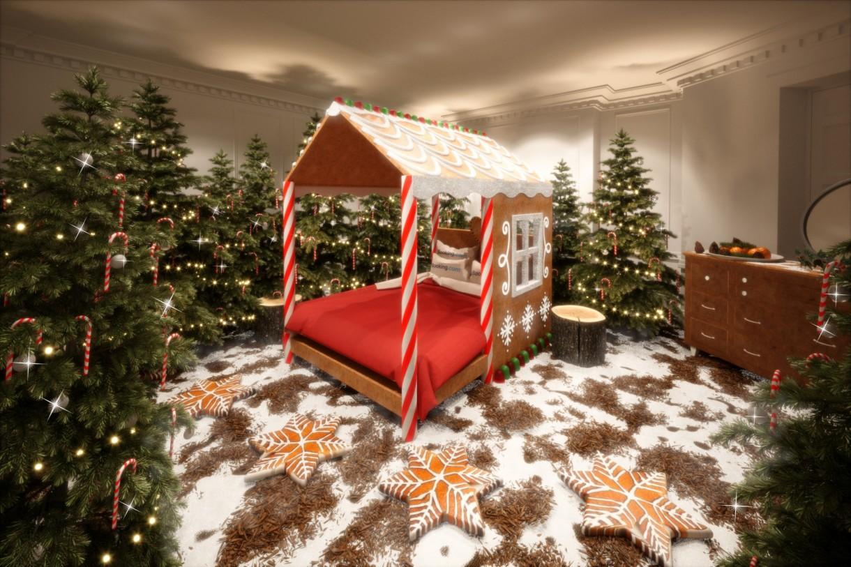 Dekoracje, Cukierkowy dom - Każdy pokój w Candy Cane House wygląda, pachnie i smakuje jak Boże Narodzenie.   Źródło: Cover Images/East News