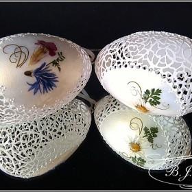 Ażurowe pisanki - Kwiaty polskich łąk- Egg art