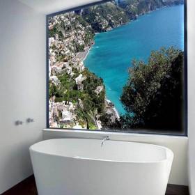 Podświetlana grafika w łazience