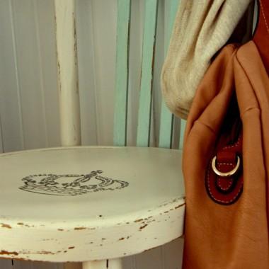 krzesło odmalowane, wytransferowane