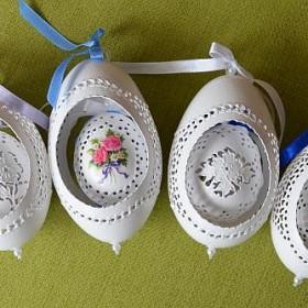 Ażurki pisanki- jajka ażurowe od Justyny,podwójne ażury