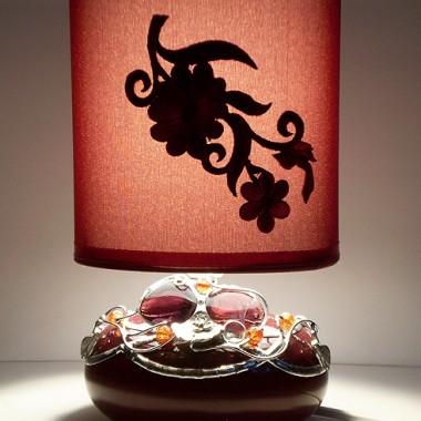 Lampka nocna ręcznie zdobiona