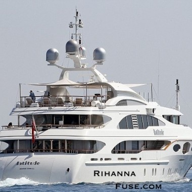 Prywatny jacht Rihanny