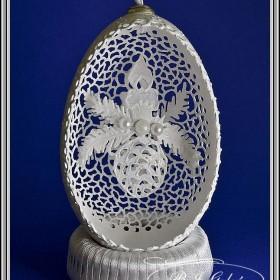 Ażurowe bombki - egg art- święta , święta.....