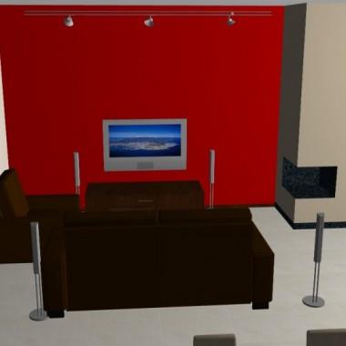 projekt salon, jadalnia, kuchnia
