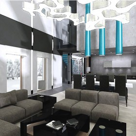 projekt wnętrza nowoczesnego domu
