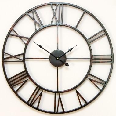 Metalowe zegary na ściane w dużym formacie - Aleja Kwiatowa