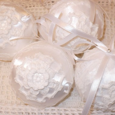 ................i bombki koronkowe  białe..........