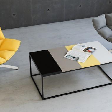 nowoczesny, minimalistyczny stolik kawowy PIANO