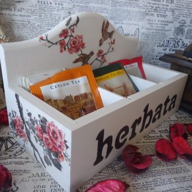 HERBACIARKA decoupage vintage PREZENT święta -do kupienia
