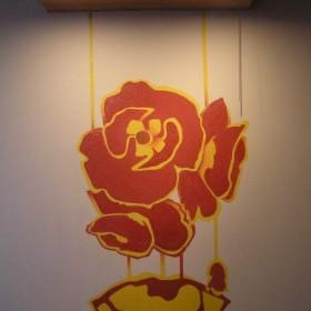 Motyw kwiatowy w kuchni.