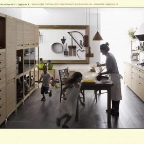 Ciekawe zdjęcia kuchni drewnianych nowoczesnych.