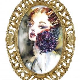 Ilustracje, akwarele, portrety glamour
