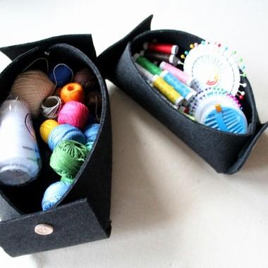 Pudełko z filcu DIY