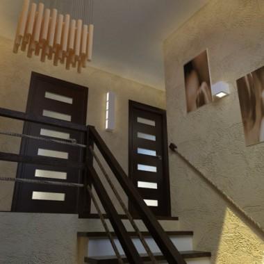 Projekt przedpokoju i klatki schodowej