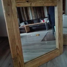 Lustro Stare drewno Belka ciosana