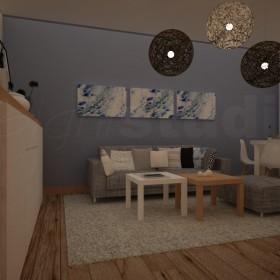 Projekt aranżacji mieszkania w Łodzi