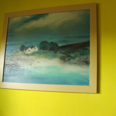 obraz uosabia do marzeń  o domku na skałach nad morzem