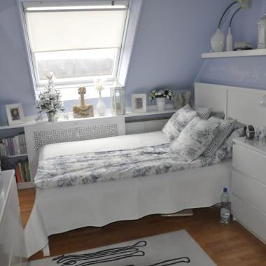 Sypialnia na poddaszu po drobnej zmianie