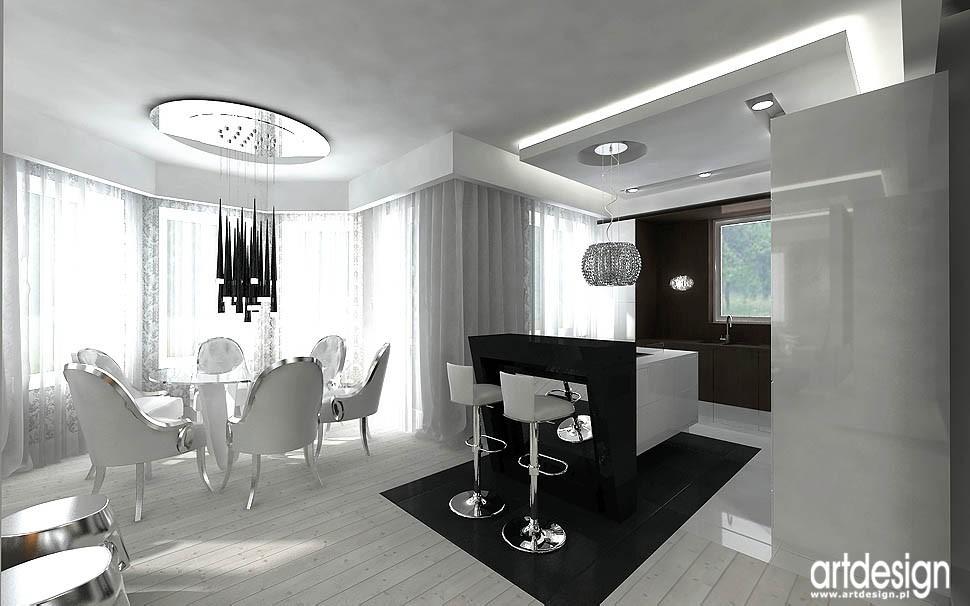 Pozostałe, DOLCE VITA - projekt wnętrz domu - jadalnia, kuchnia - luksusowe wnętrze domu