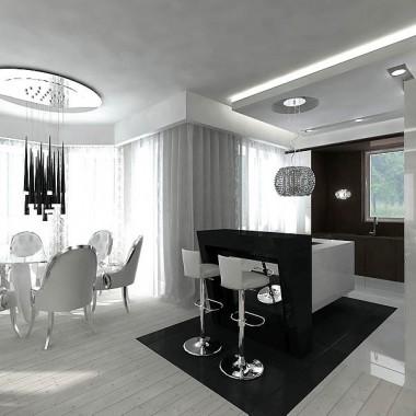 jadalnia, kuchnia - luksusowe wnętrze domu