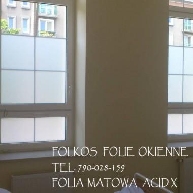 Folie okienne matowe i dekoracyjne Folkos