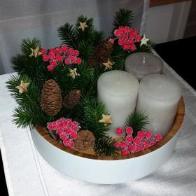 Dekoracja na stół - wersja na Święta