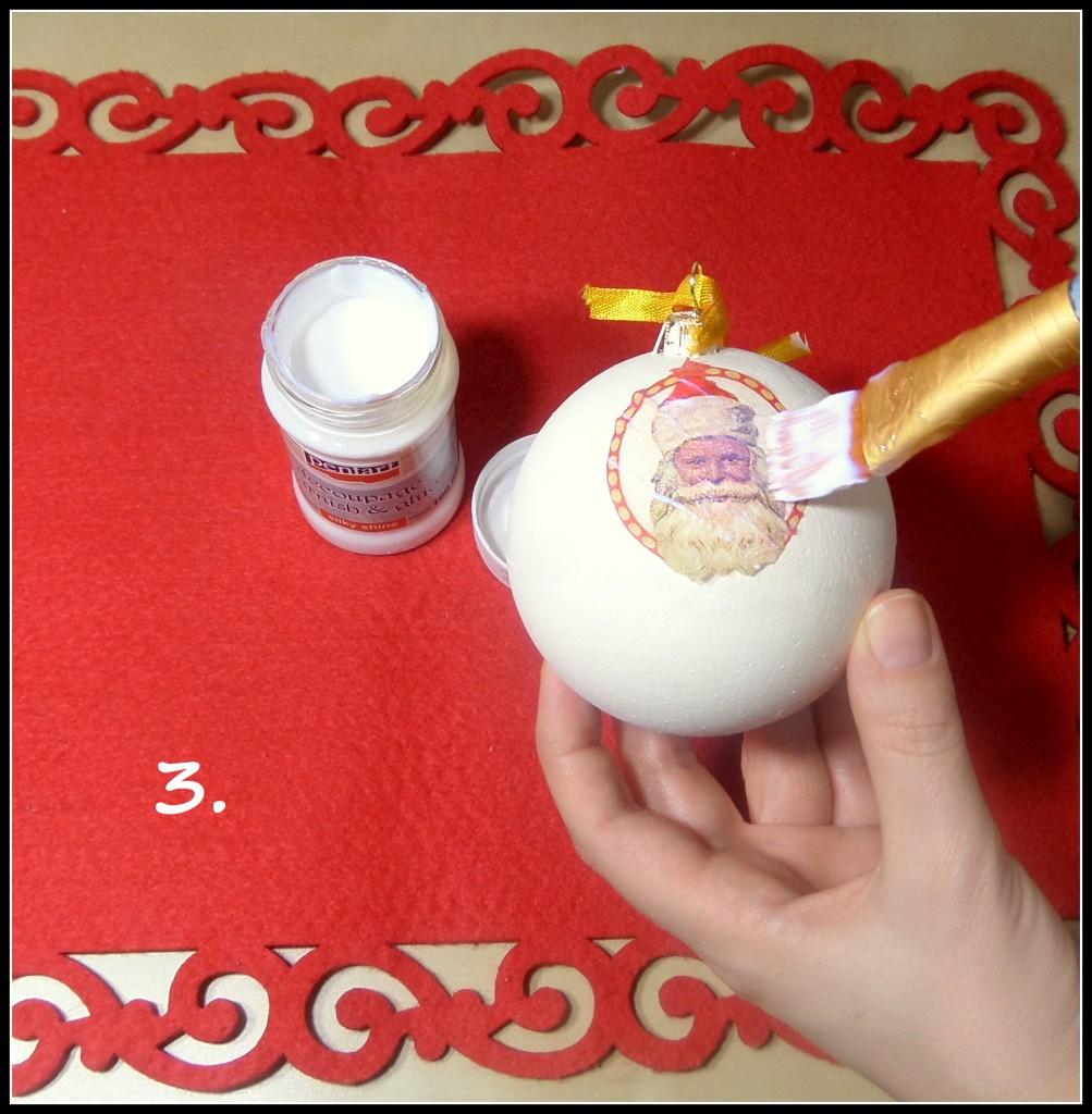 Zrób to sam, Bombki styropianowe - Decoupage - Jak ozdobić bombkę styropianową metodą Decoupage? Wejdź na: https://dekostacja.wordpress.com/2015/12/03/bombki-styropianowe-czesc-1-decoupage/