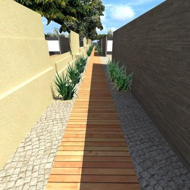 Korytarz labiryntu- nowoczesne elementy pozwoliły na śmiałe rozwiązania- porowata faktura betonu podkreśla kruchość szkła.