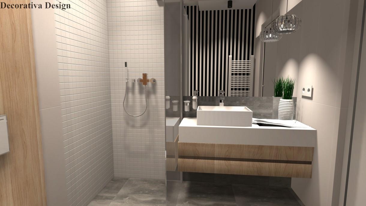 łazienka Na Parterze W Domu Jednorodzinnym Deccoriapl
