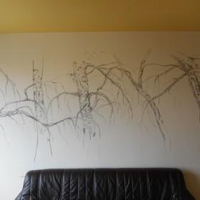 Szkice na ścianie.