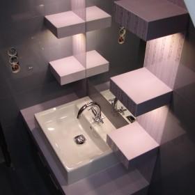 Łazienka szaro - fioletowa